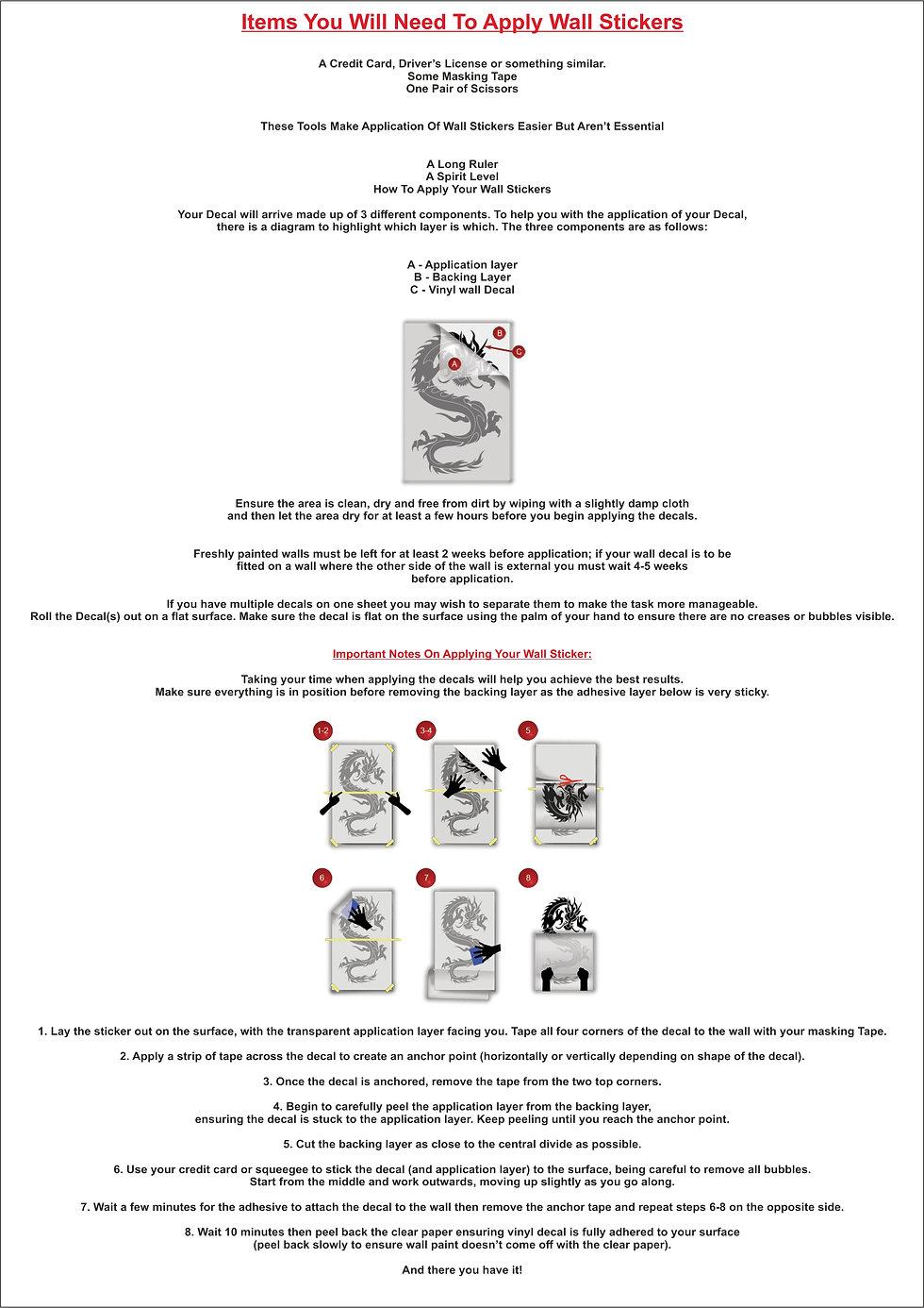 Vinyl Application Guide