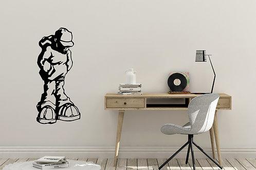 Banksy Style Guy In Hoody Decal