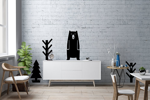 Bear In Forest Decal