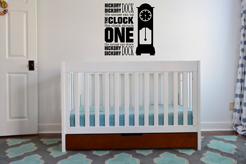 Hickory Dickory Dock Decal