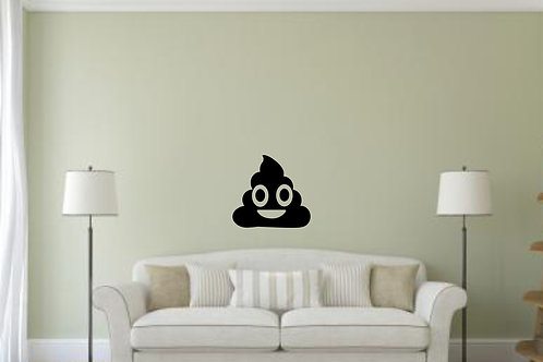 Poop Emoji Decal