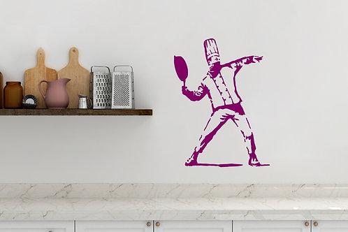 The Cook banksy inspired Design Graffiti Bedroom Wall Art Decal Vinyl Sticker