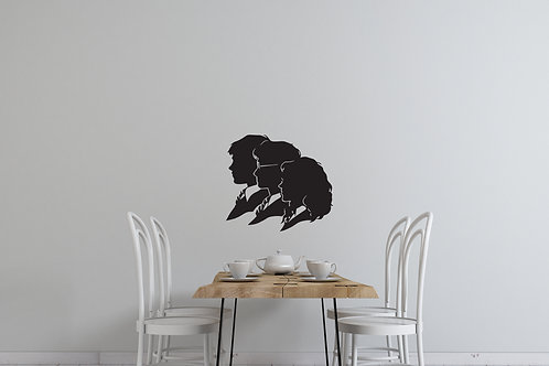 Harry Potter Hermione and Ron Inspired Design Bedroom Wall Decal Vinyl Sticker