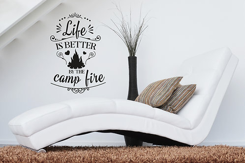 Life Is Better By The Campfire Camping Decal