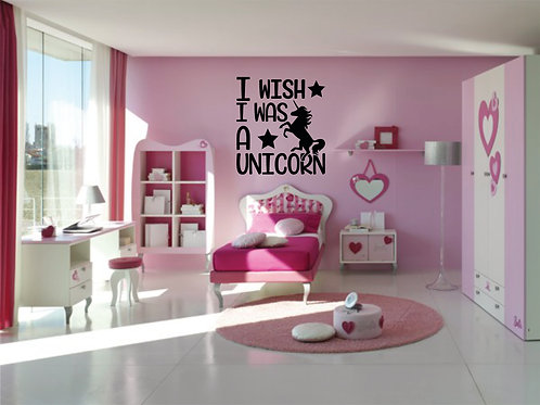 I Wish I Was A Unicorn Decal