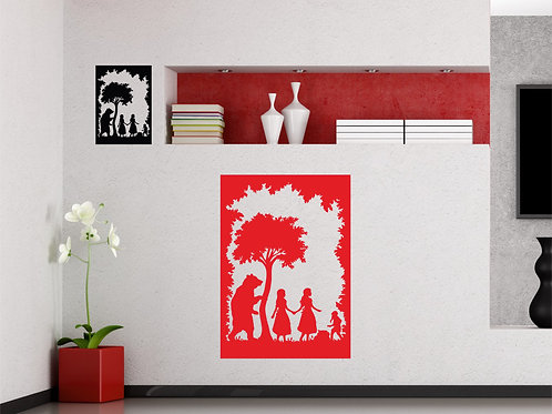 Alice in The Wonderland Bear In The Woods Decal