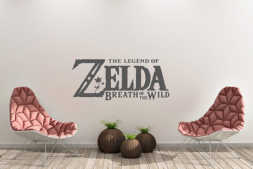 The Legend Of Zelda Breath Of The Wild Inspired Wall Art Decal Vinyl Sticker
