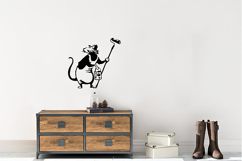 Banksy Rat With Paint Roller