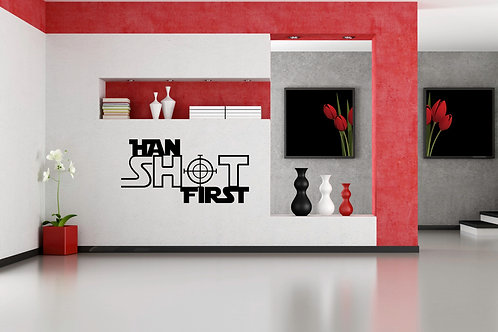 Han Shot First But Did He? Decal