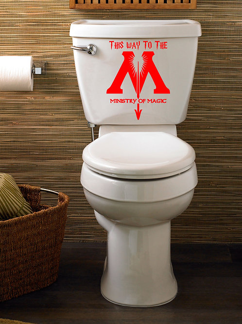 This Way To The Ministry Of Magic Harry Potter Decal