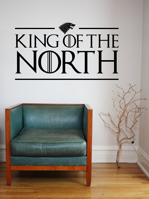 Game Of Thrones King Of The North Decal