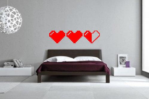 8Bit Hearts Decal