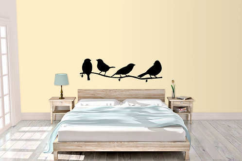 Set Of Birds On A Branch Decal