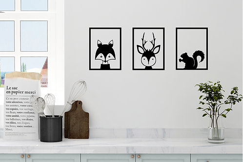 Animals In Frames Decal