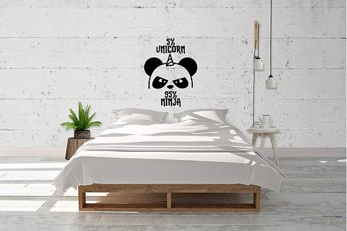 5% Unicorn 95% Ninja Panda Decal