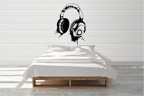 Banksy Style Headset Decal