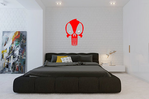 Punisher Dead Pool Mash Decal