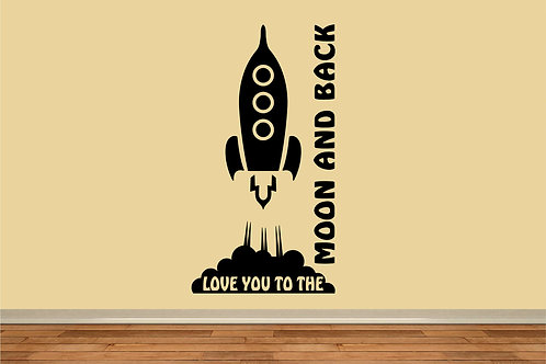 Love You To The Moon And Back Decal