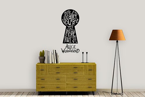 The Braver You Are Alice In Wonderland Decal