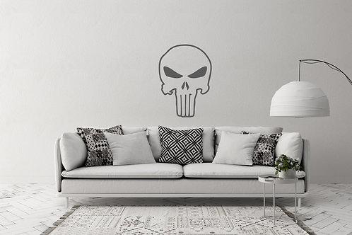 Punisher skull Hero Logo inspired Design Home Wall Art Decal Vinyl Sticker