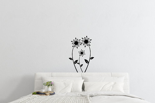 Set Of Flowers Decal