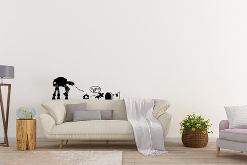 At At Vs Jedi Mouse Star Wars Decal