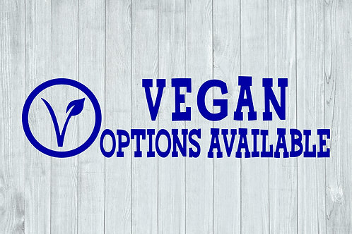 Vegan Options Available Decal