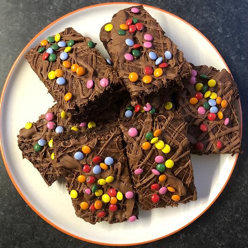 Post Box Brownies - Box of Six Rainbow Crisp
