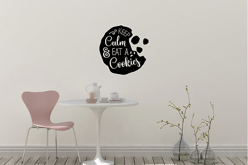 Keep Calm And Eat Cookies Decal