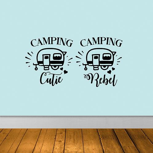 Camping Cutie & Camping Rebel Decal