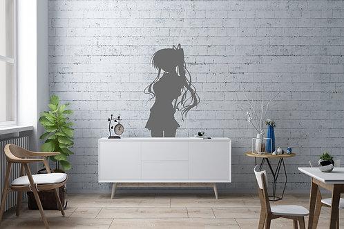 Manga Girl Inspired Design Bedroom Wall Vinyl Decal Vinyl Sticker