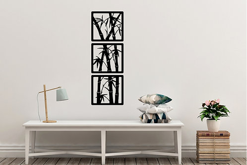 Bamboo In Frames Decal