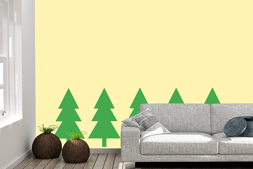 Set Of 5 Trees Decal