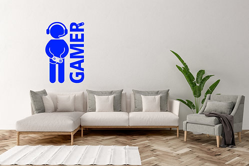 Gamer With Head Set On Decal