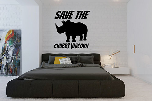 Save The Chubby Unicorn Decal