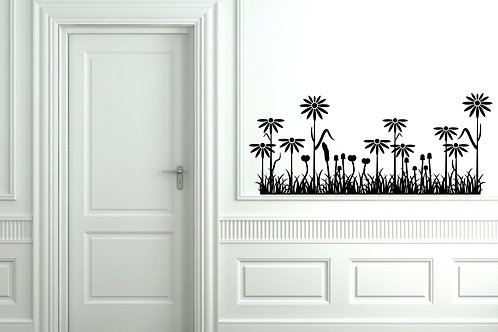 flowers and grass Decal