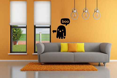 Boo Ghost Decal