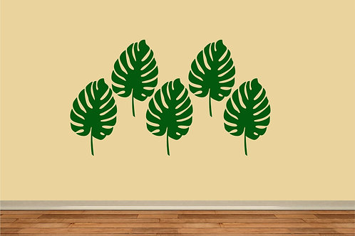 Cheese Leaf Decal Set Of 5