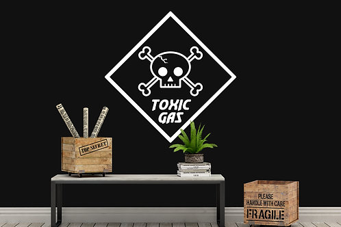 Toxic Gas Sign Decal