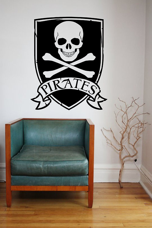 Pirates Skull and Crossbones Decal