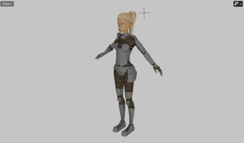 3D female character animation