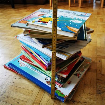 Kleiner Bücherturm aus dem Kindergarten Gotthardstrasse