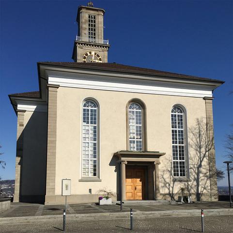 Fensterinstallation an der reformierten Kirche Thalwil