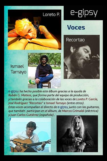 "Colaboraciónes del disco Divers-e del grupo ""e-gipsy"""