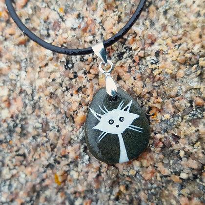 le chat de la pierre polie. Pendentif#05