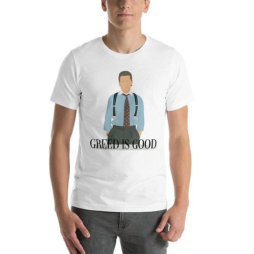 Camiseta Corta Unisex - Gordon Gekko: Greed is good