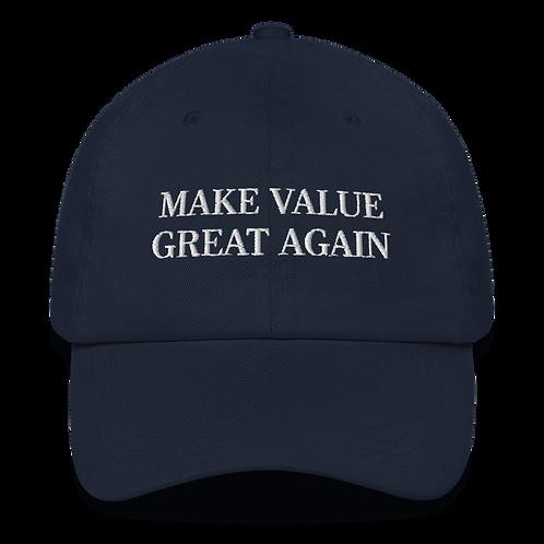 Gorra Baseball - Make Value Great Again