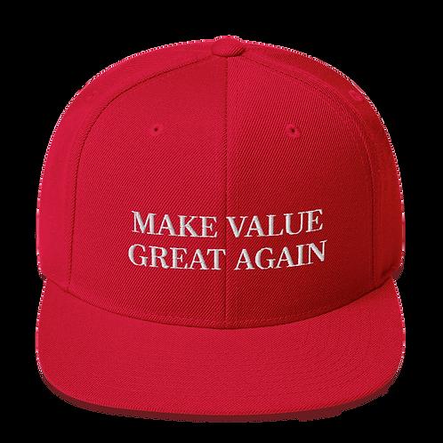 Gorra visera plana - Make Value Great Again