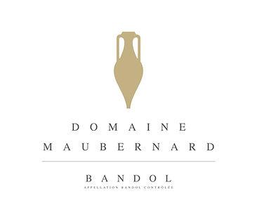 Logo Domaine Maubernard. Appellation Bandol Controlée. Vente de vin rosé et rouge. L'amphore, emblème du Domaine, évoque l'époque romaine, et notamment la villa Tauroentum, située à proximité.
