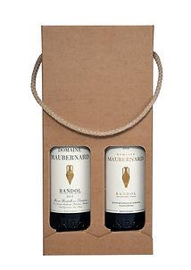 Pack de 2 bouteilles Bandol Rouge adapté pour cadeaux entreprises clients. Vin de Bandol